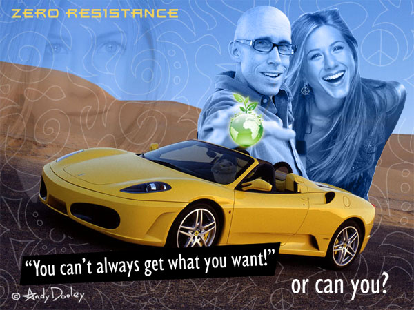 Andy Dooley's Ferrari and Jennifer Aniston